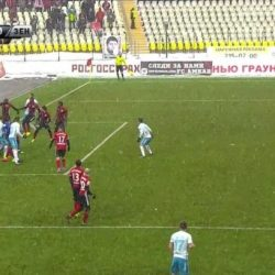«Амкар» - «Зенит» 1:0. Судья не засчитал го петербуржцев, хотя мяч пересек линию ворот