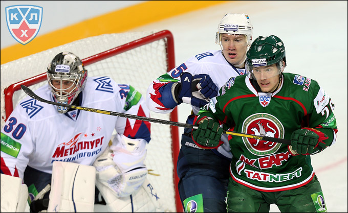Магнитогорский «Металлург» одержал победу над «Ак Барсом» со счетом 2:0