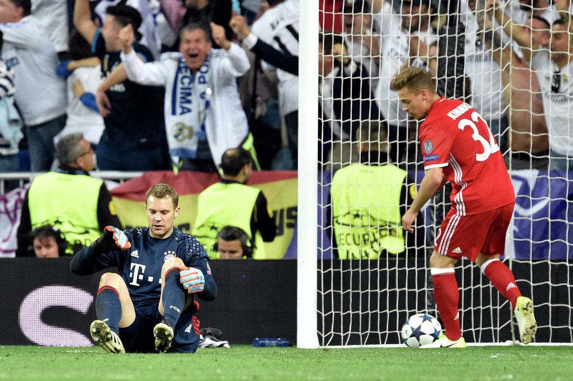 Во время гола Роналду вратарь «Баварии» Нойер сломал ногу