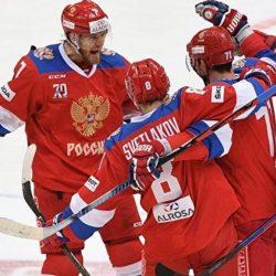 Сборная России по хоккею победила Словакию с разгромным счетом