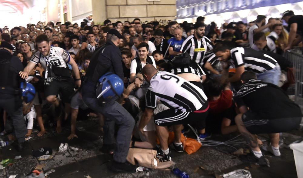 В результате давки после матча «Ювентус» — «Реал Мадрид» пострадало 1527 человека