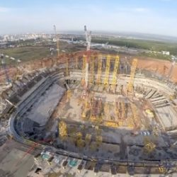 В Самаре при строительстве стадиона «Самара Арена» произошел пожар